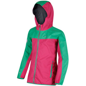 Regatta Deviate Jacket Kids Hot Pink/Island Green Reflective